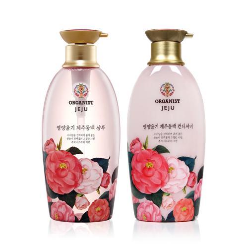 오가니스트 영양윤기 제주동백 샴푸/컨디셔너